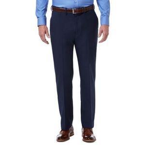 Haggar clothing navy blue men dress pants